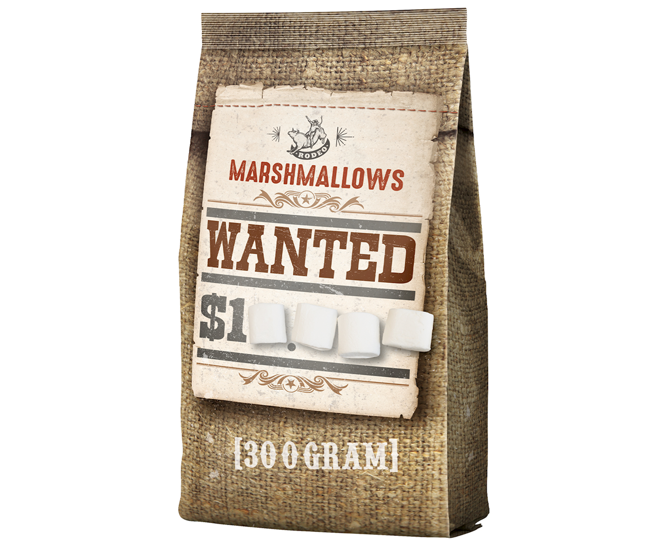 Productafbeelding Marshmallows Western saloon snacks 300g stazak