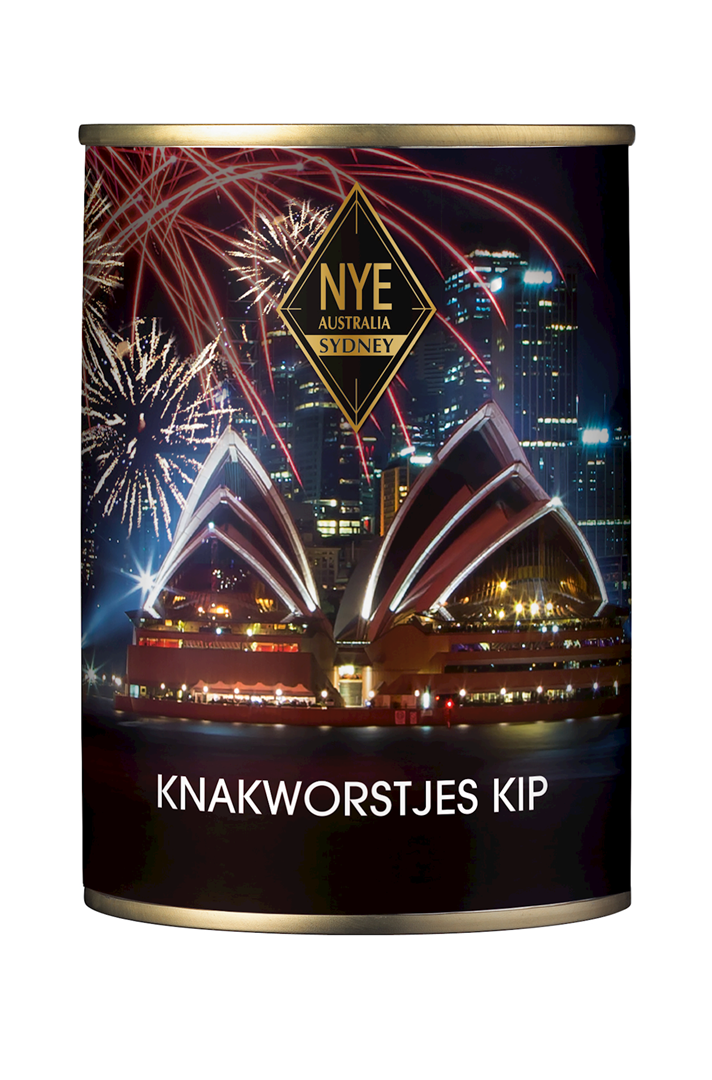 Productafbeelding Knakworst kip New years eve 180g blik