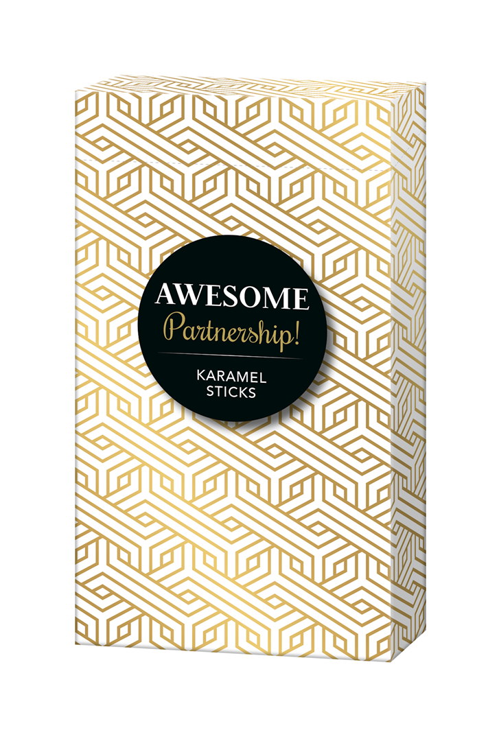Productafbeelding Caramel sticks Many thanks 50g doos