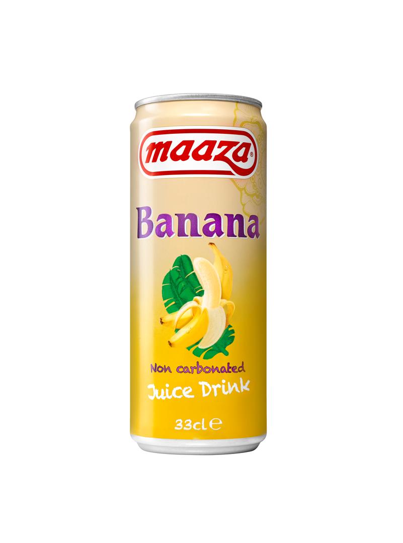 Productafbeelding Maaza juice drink banana 33cl blik