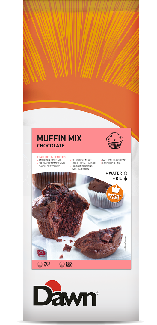 Productafbeelding Copy_of_Dawn Muffin Mix - Chocolate 3,5 KG zak