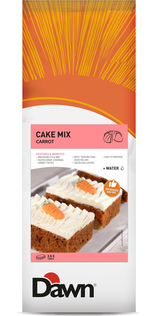 Productafbeelding Dawn Cake Mix Carrot 3,5 kg zak