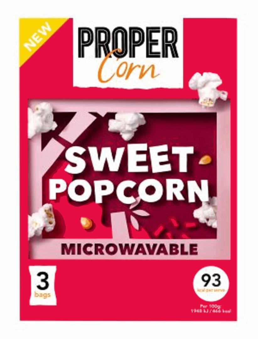Productafbeelding PROPERCORN POPCORN MICROWAVE SWEET 210 G DOOS