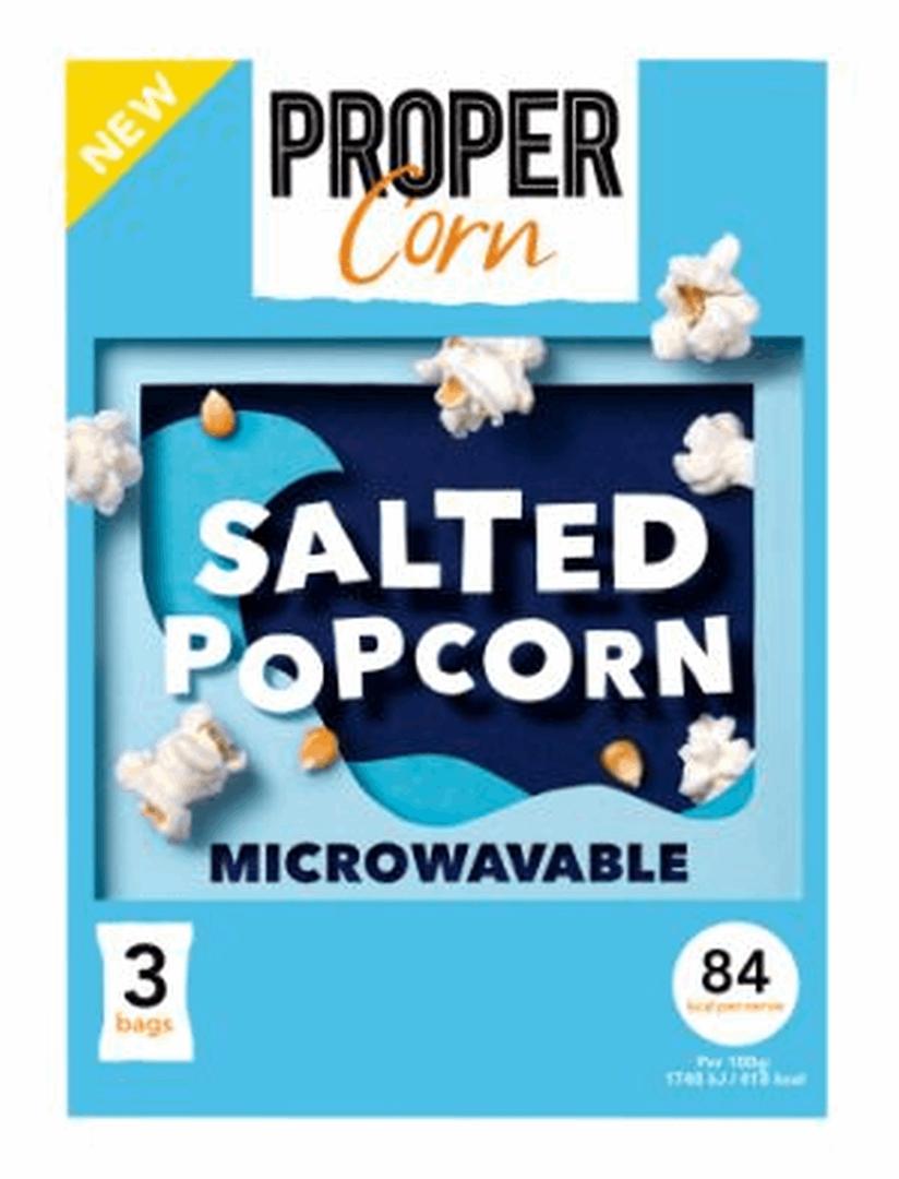 Productafbeelding PROPERCORN POPCORN MICROWAVE SALTED 210 G DOOS