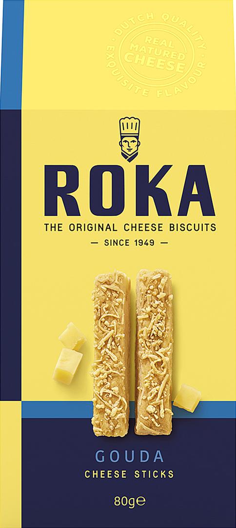 Productafbeelding ROKA KAASSTICKS GOUDA 80 G DOOS