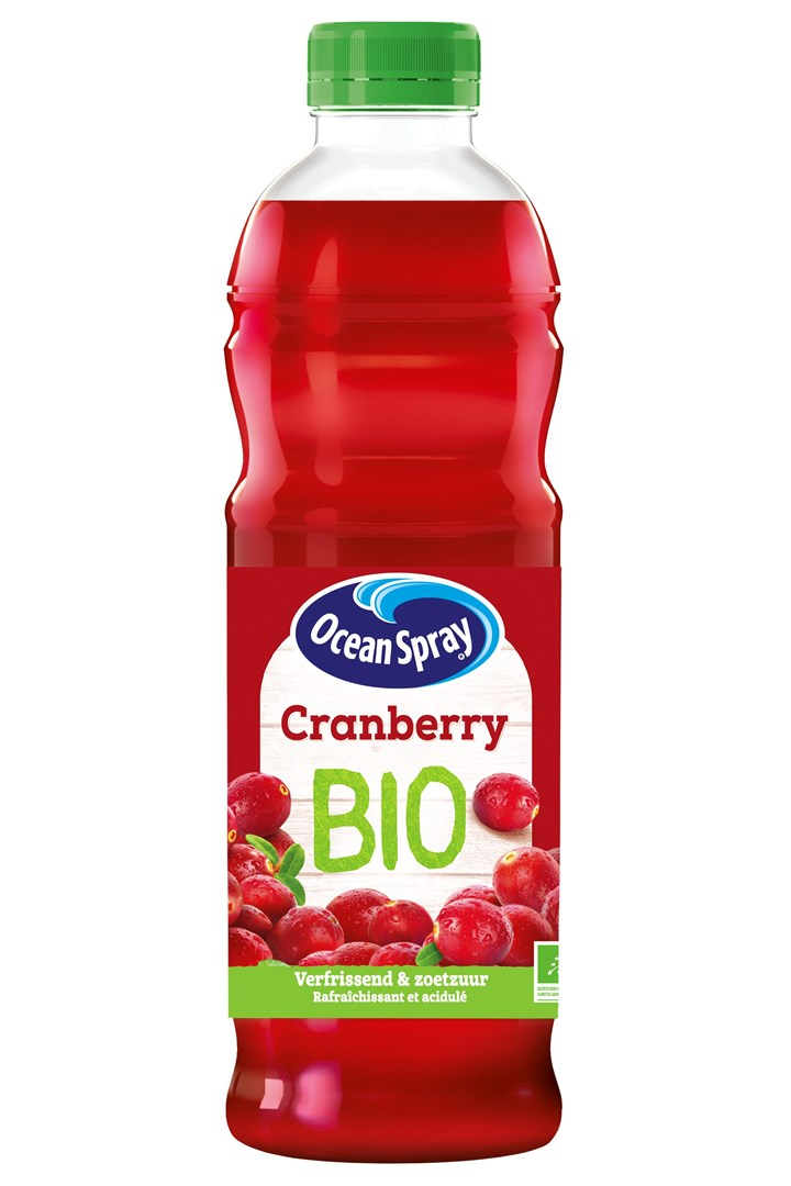 Productafbeelding Ocean Spray Vruchtendrank Cranberry Bio 1 l Fles