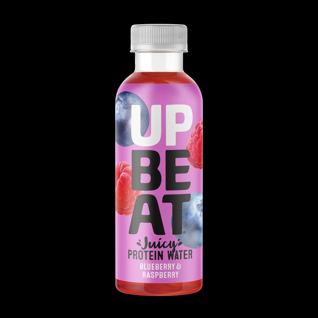 Productafbeelding UPBEAT FRUIT JUICE DRINK BLUEBERRY & RASPBERRY 500 ML FLES
