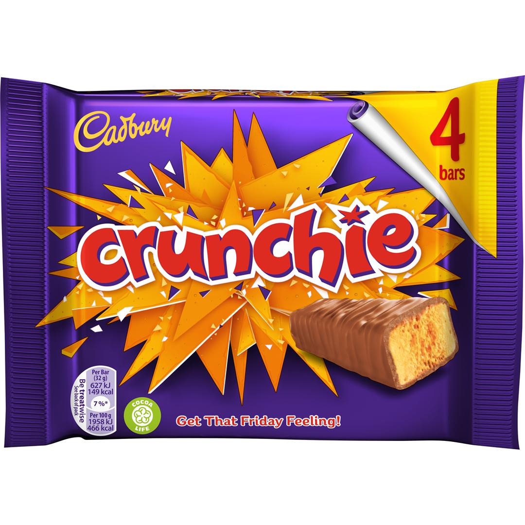 Productafbeelding CADBURY CHOCOLADE CRUNCHIE 4-PACK 128 G WIKKEL
