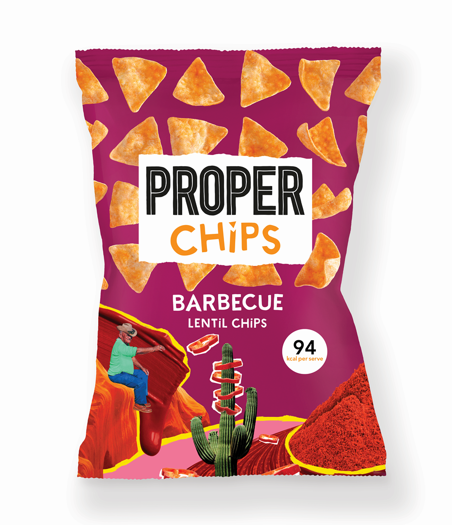 Productafbeelding PROPERCHIPS LINZEN CHIPS BARBECUE 85 G ZAK