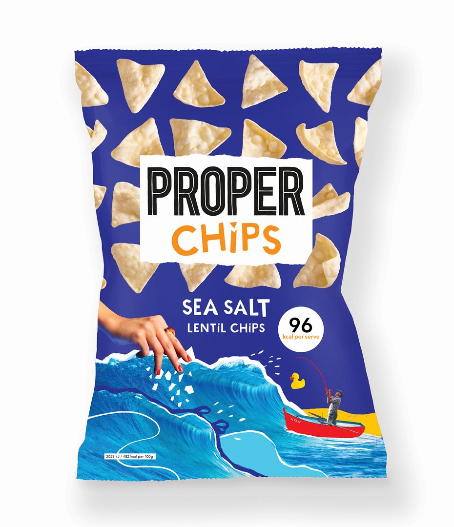 Productafbeelding PROPERCHIPS LINZEN CHIPS SEA SALT 20 G ZAK