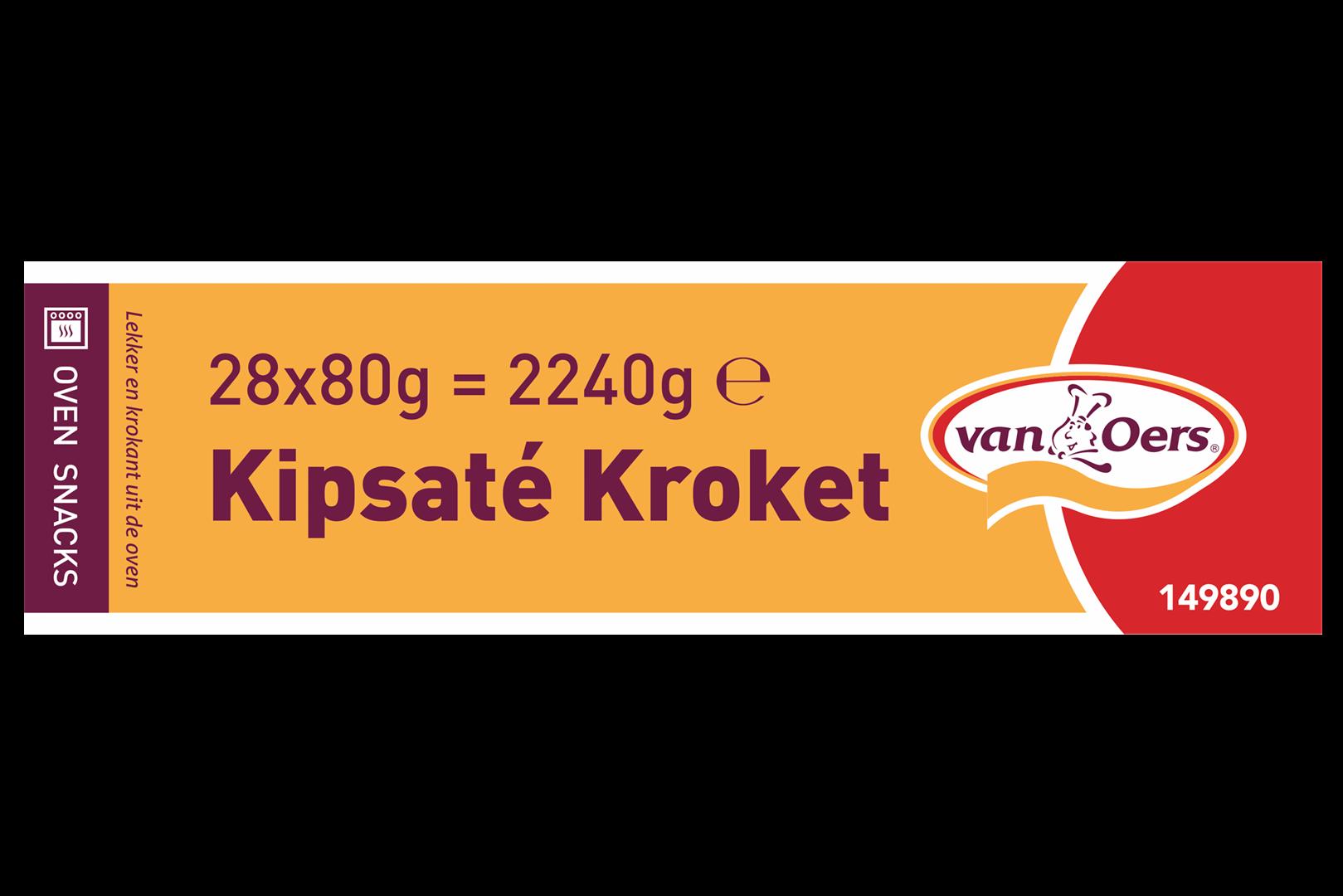 Productafbeelding VAN OERS KROKET KIPSATÉ OVEN GRILL doos