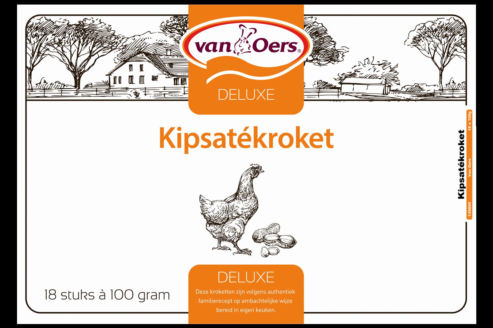 Productafbeelding VAN OERS KROKET KIPSATÉ DELUXE doos