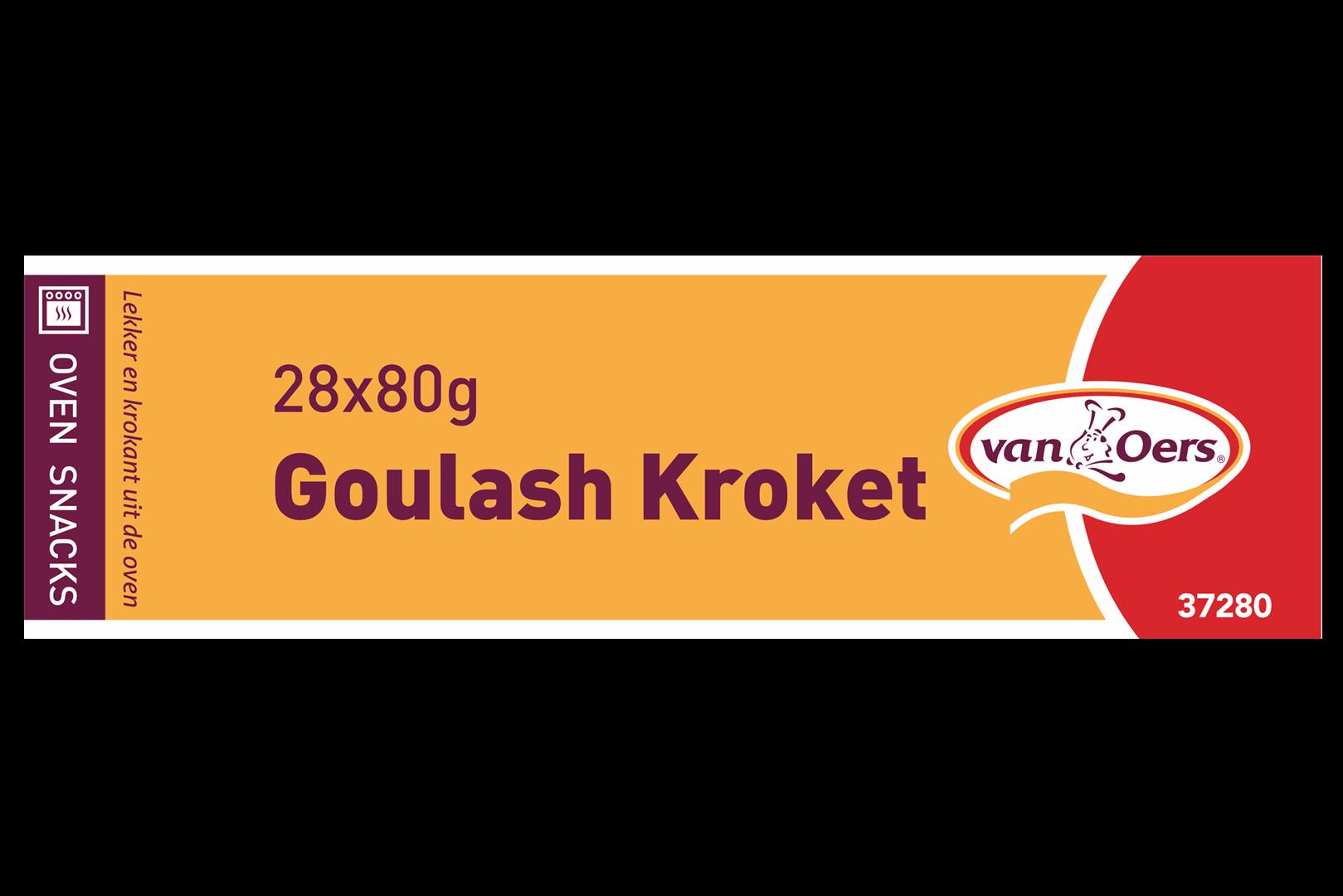Productafbeelding Van Oers Goulashkroket Oven Grill 28x80g