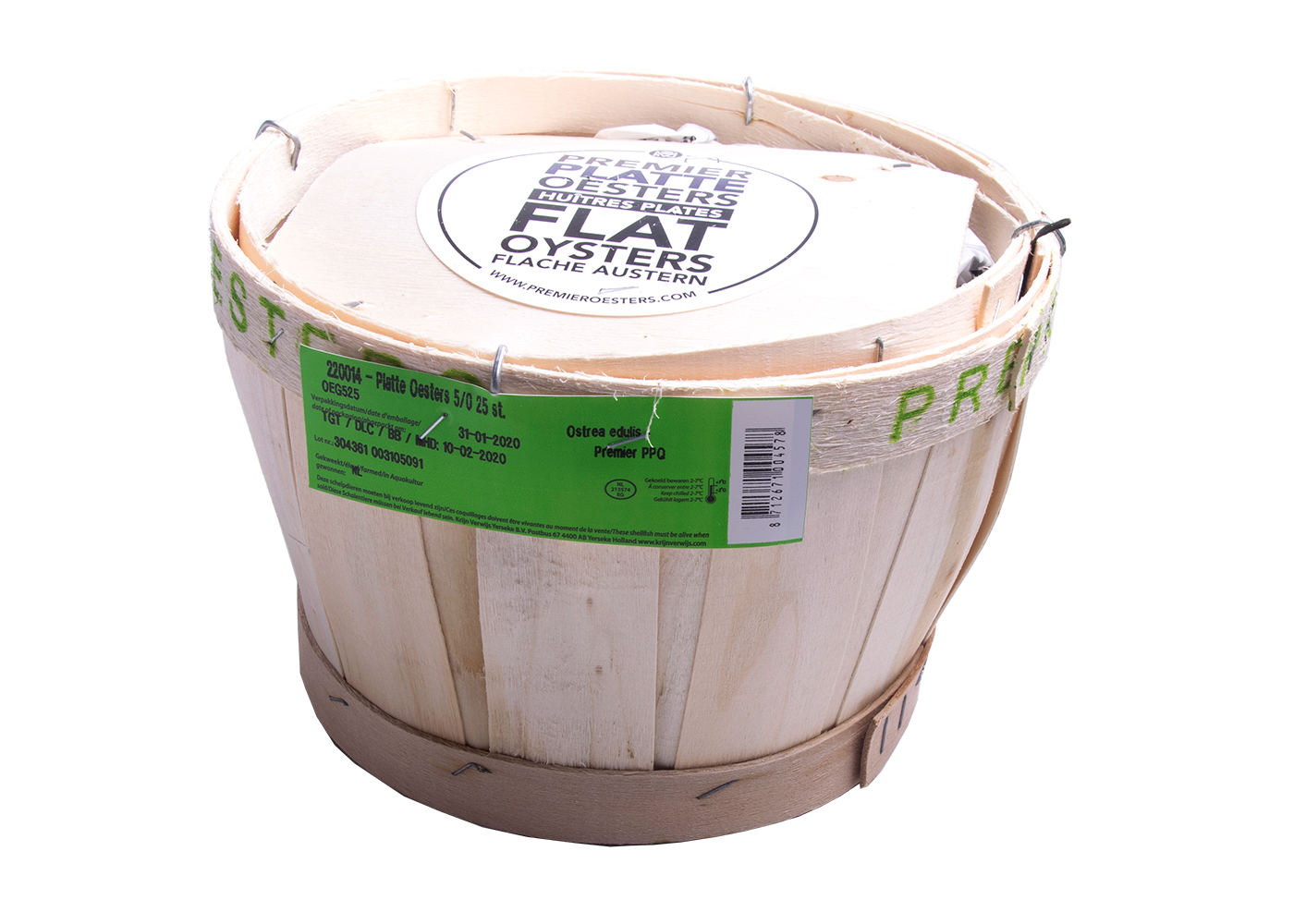 Productafbeelding PLATTE OESTERS 5/0 ZEEUWSE A 25 ST