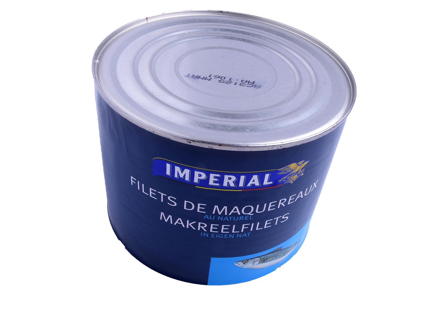 Productafbeelding MAKREEL NATUREL BLIK 1800 GR.