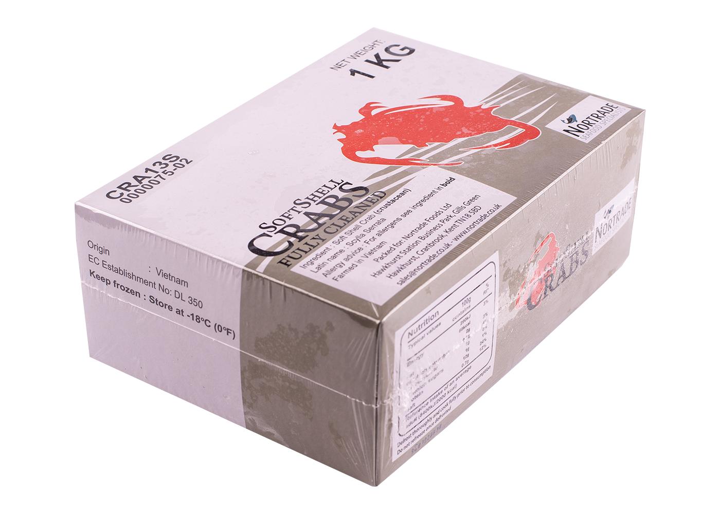 Productafbeelding CRAB SOFTSHELL JUMBO 90-110 GRAM DOOS 1KG DIEPVRIES