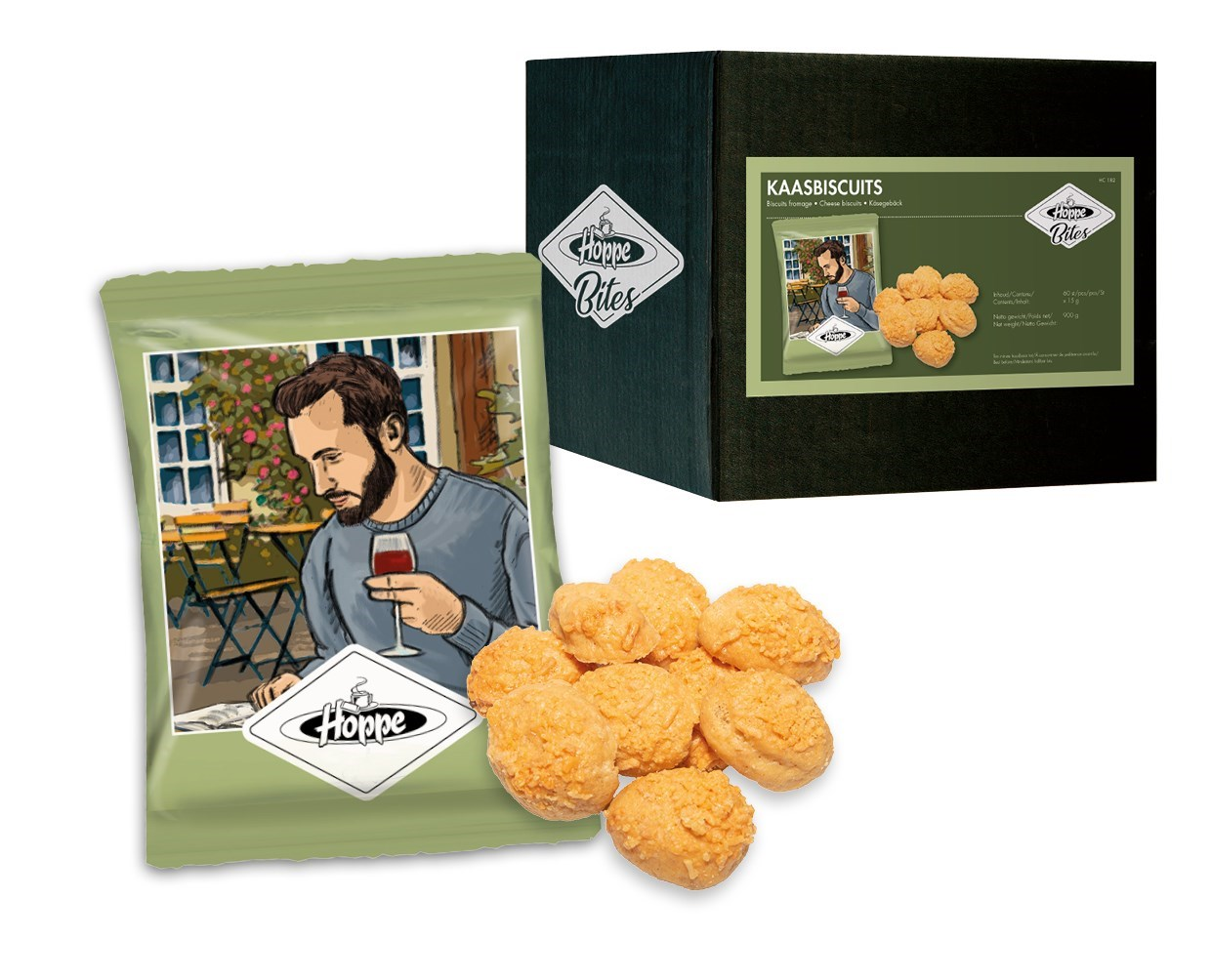 Productafbeelding Hoppe Kaas biscuits 900g