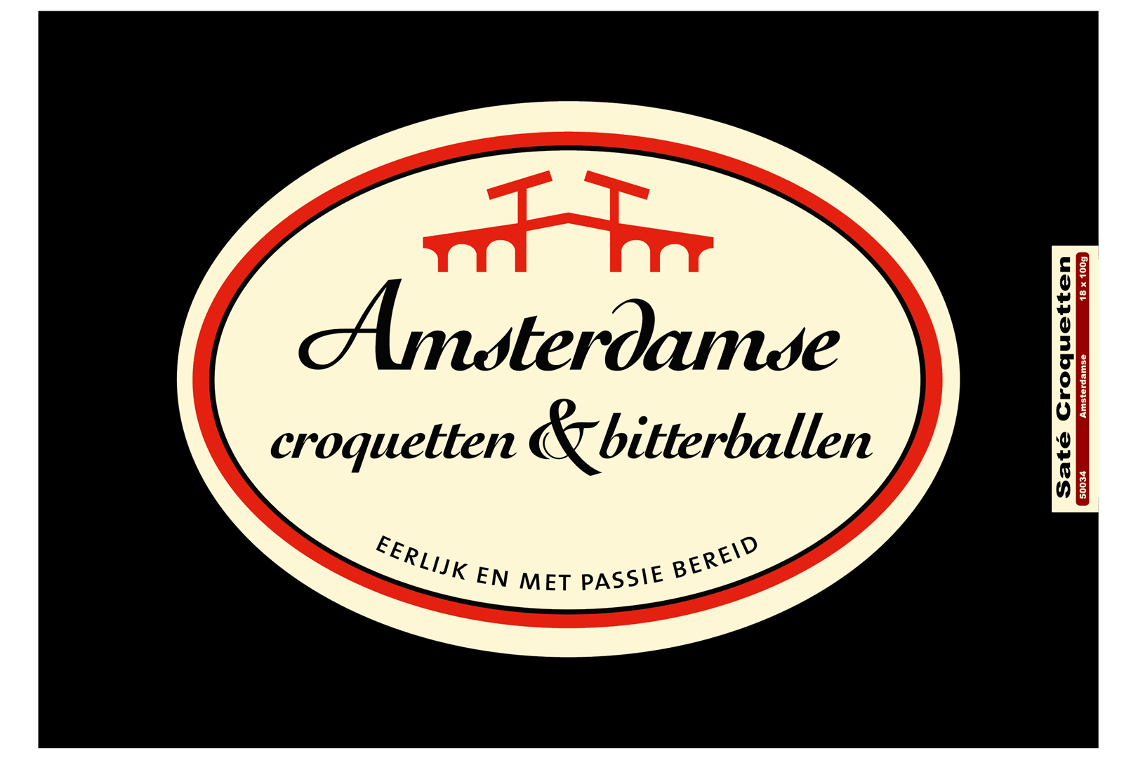 Productafbeelding Amsterdamse Kroket kip sate doos