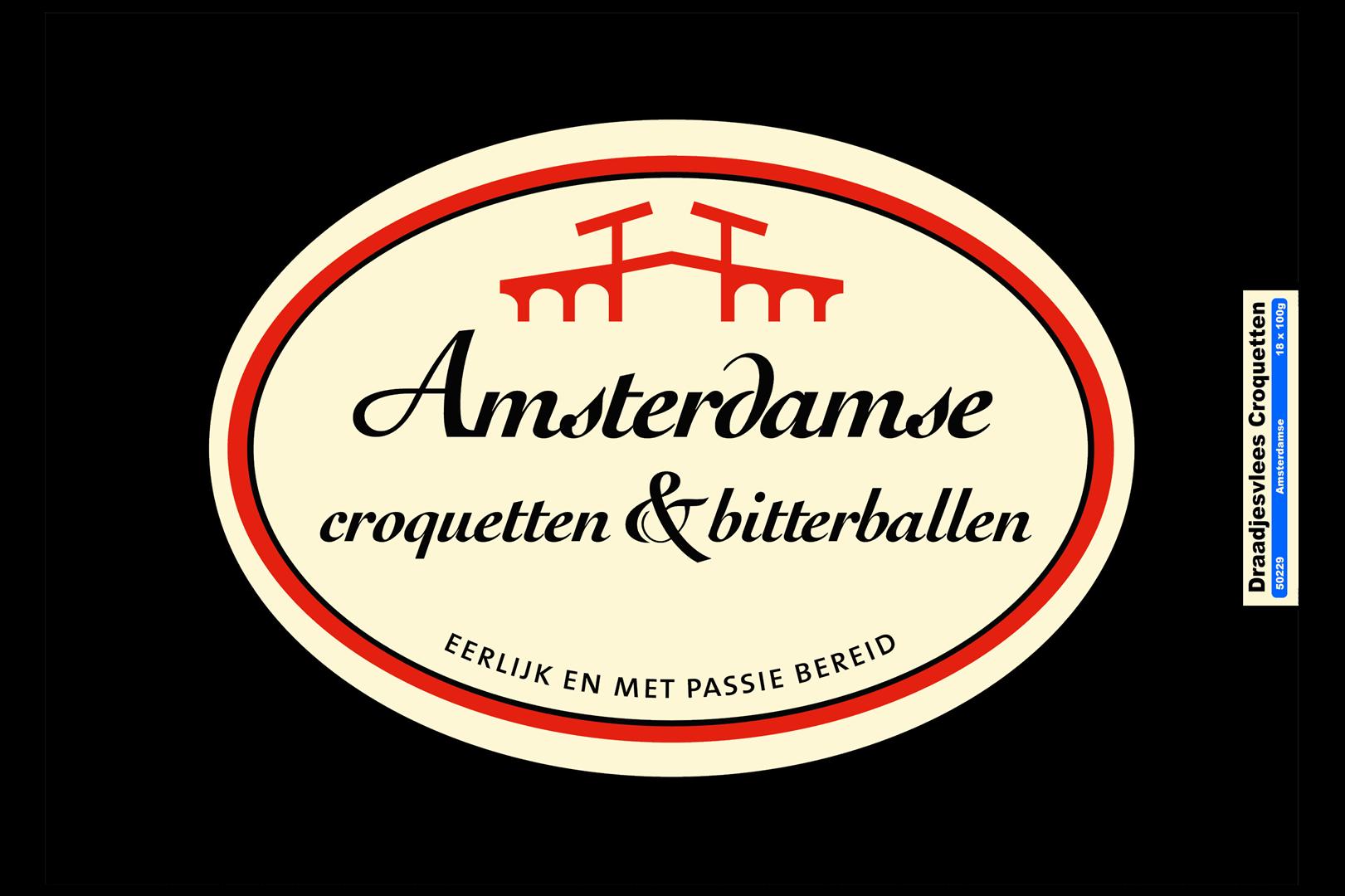 Productafbeelding Amsterdamse Kroket rundvlees draadjes doos
