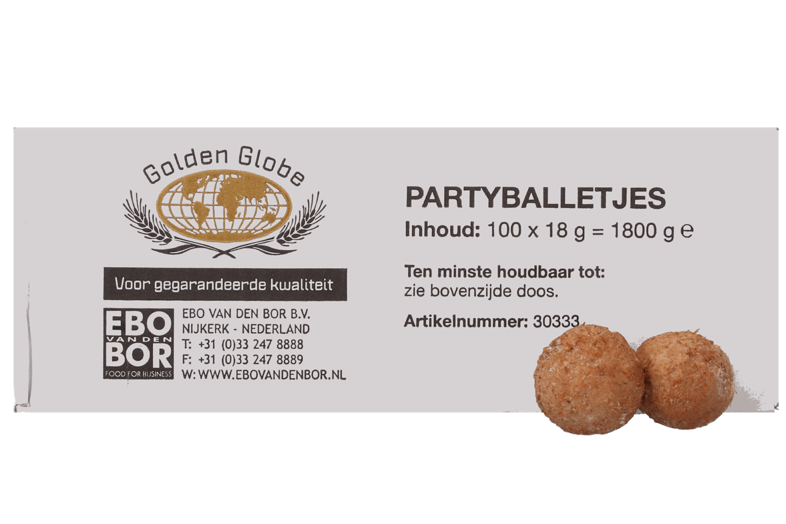 Productafbeelding UNBRANDED PARTYBALLETJE 100X18G doos