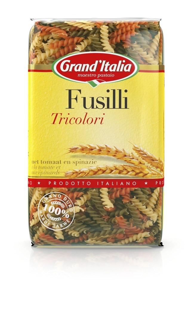 Productafbeelding Grand'Italia Pasta Fusilli Tricolori 500 g Zak