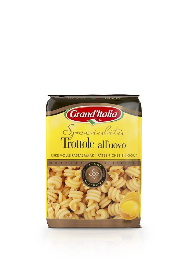 Productafbeelding Grand'Italia Trottole Uovo 500g Durum tarwe pasta met ei
