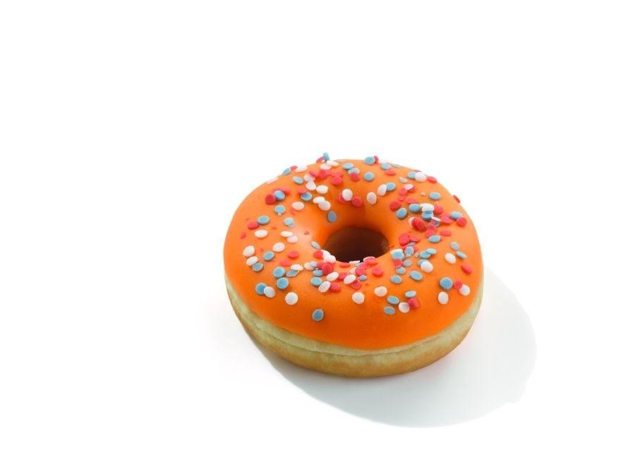 Productafbeelding Oranjedonut rood, wit, blauw