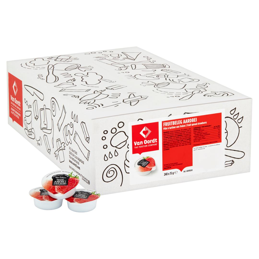 Productafbeelding Fruitbeleg aardbei in cup 240x15g