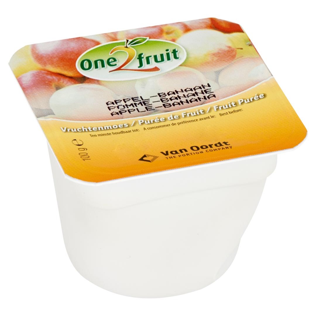 Productafbeelding Vruchtenmoes appel-banaan cup 48x100g