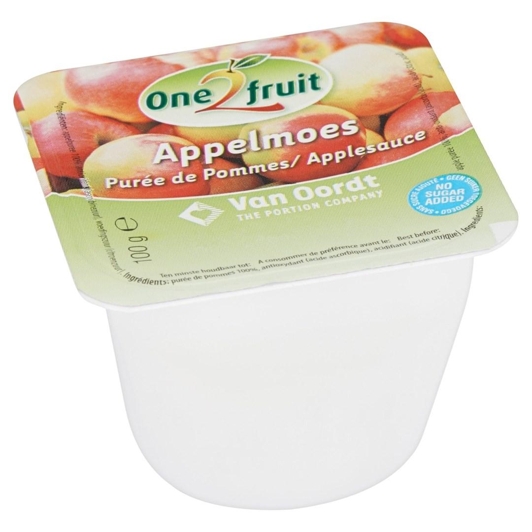 Productafbeelding Appelmoes cup zonder toegevoegd suiker 48x100g