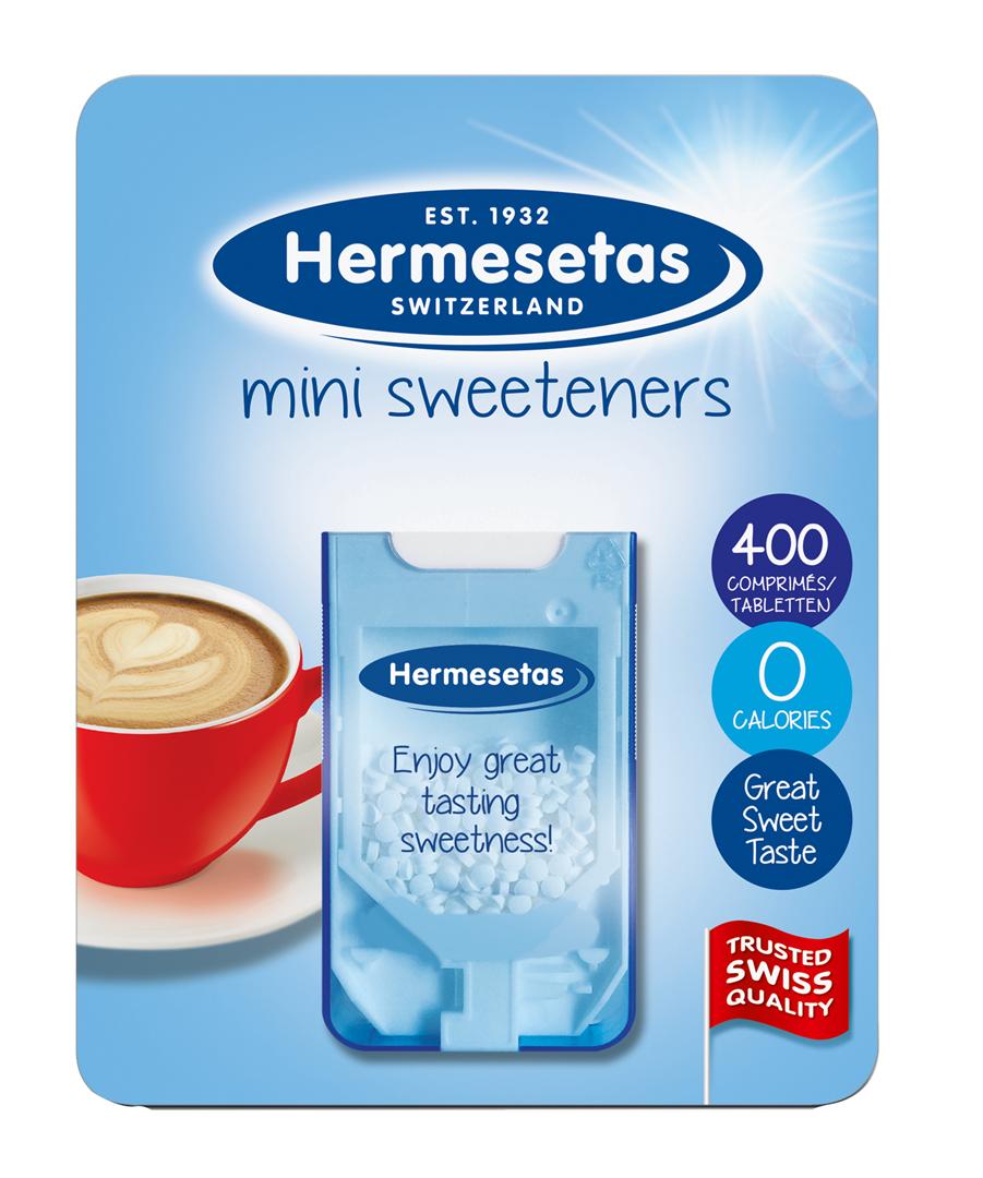 Productafbeelding Hermesetas zoetjes 400 4,7g blisterverpakking