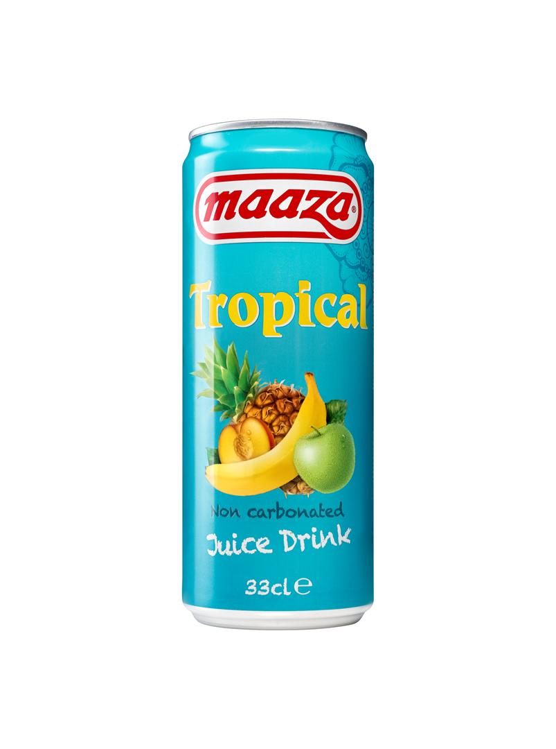 Productafbeelding Maaza juice drink tropical 33cl blik