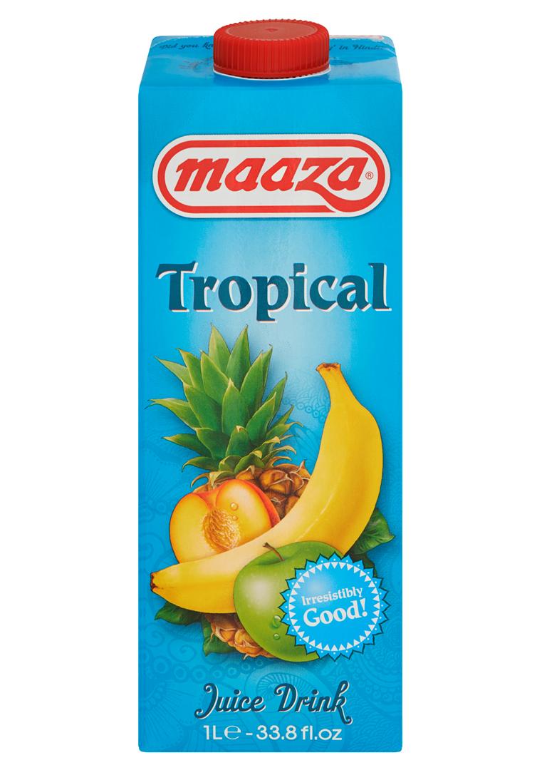 Productafbeelding Maaza juice drink Tropical 1L pak met punt