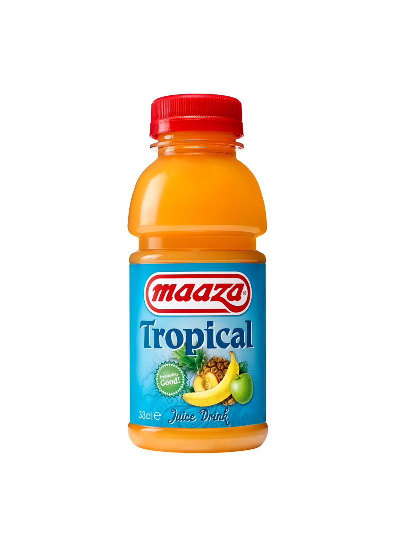 Productafbeelding Maaza juice drink tropical 33cl fles