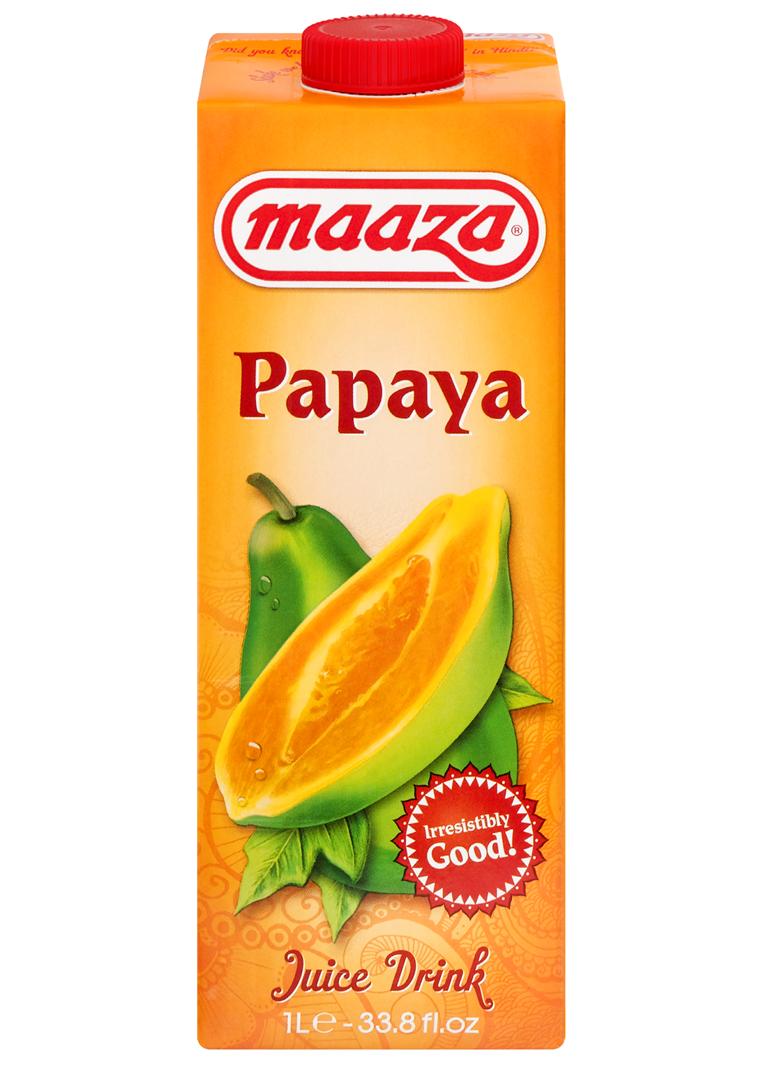 Productafbeelding Maaza juice drink papaya 1L pak met punt