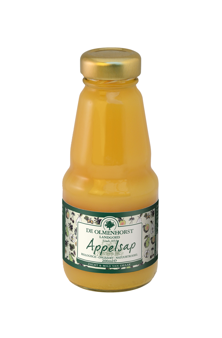 Productafbeelding de Olmenhorst vruchtensap Biologisch appel 200ml fles