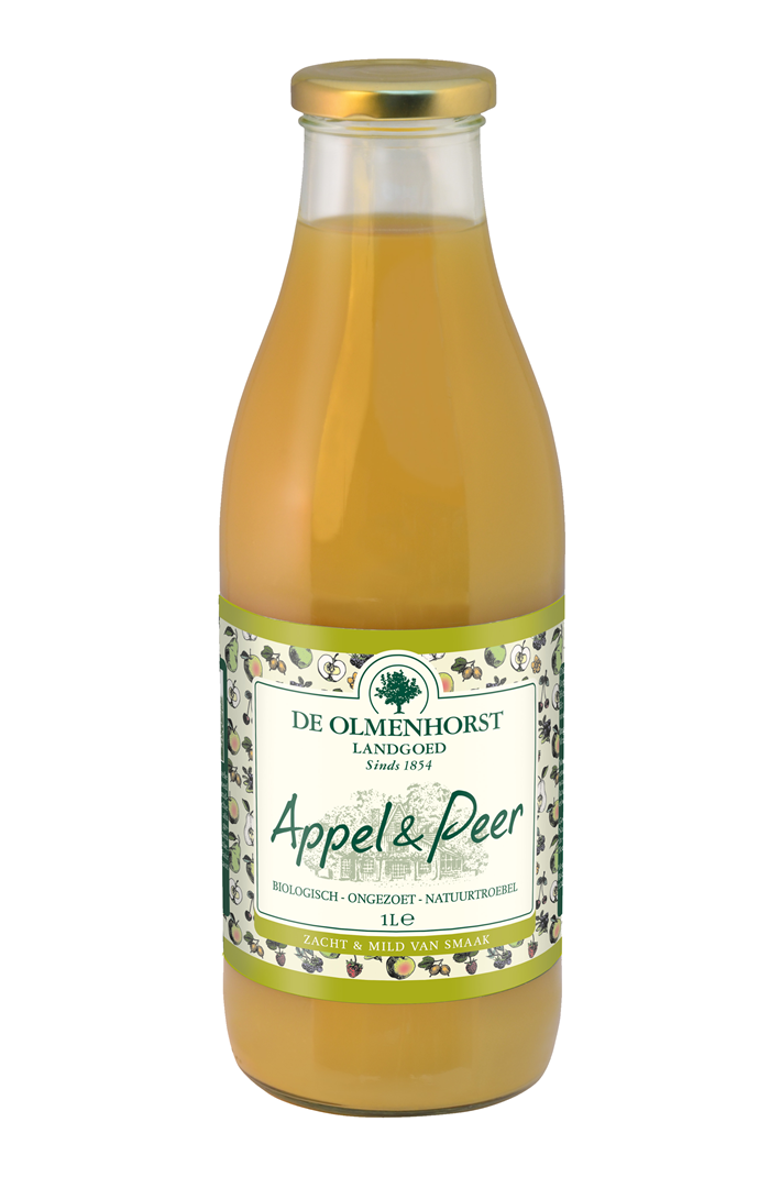Productafbeelding de Olmenhorst vruchtensap Biologisch appel 1l fles