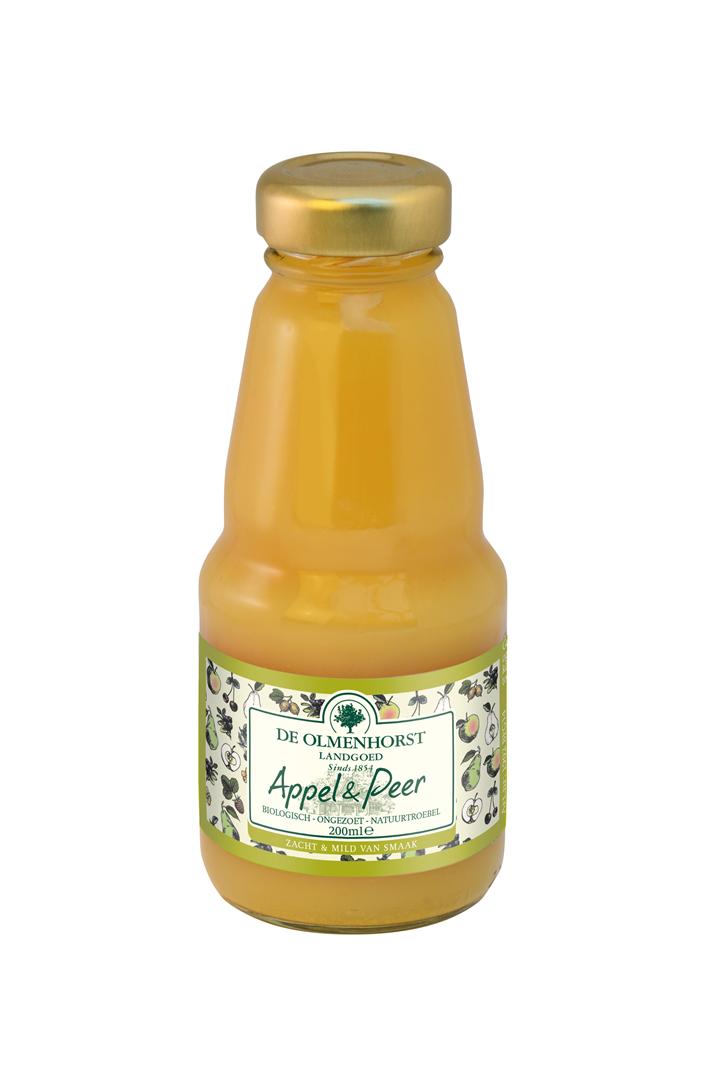 Productafbeelding de Olmenhorst vruchtensap Biologisch appel peer 200ml fles