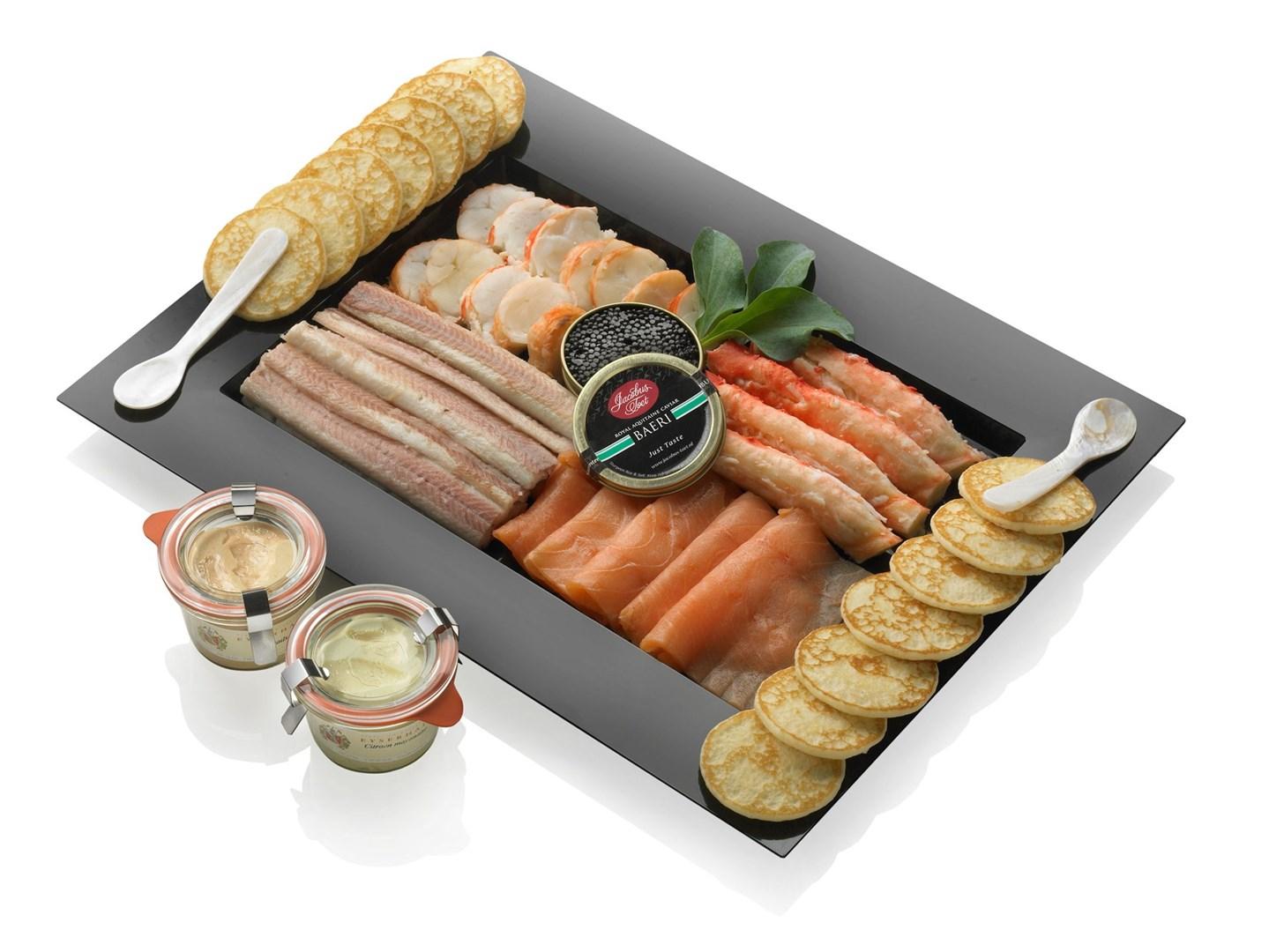 Productafbeelding viskwartet exclusief met kaviaar