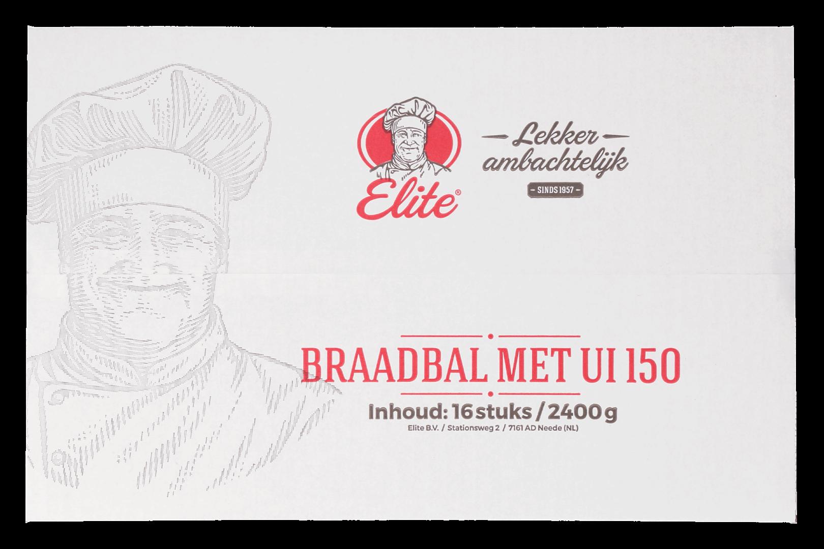 Productafbeelding Braadbal met ui 16x150 gr