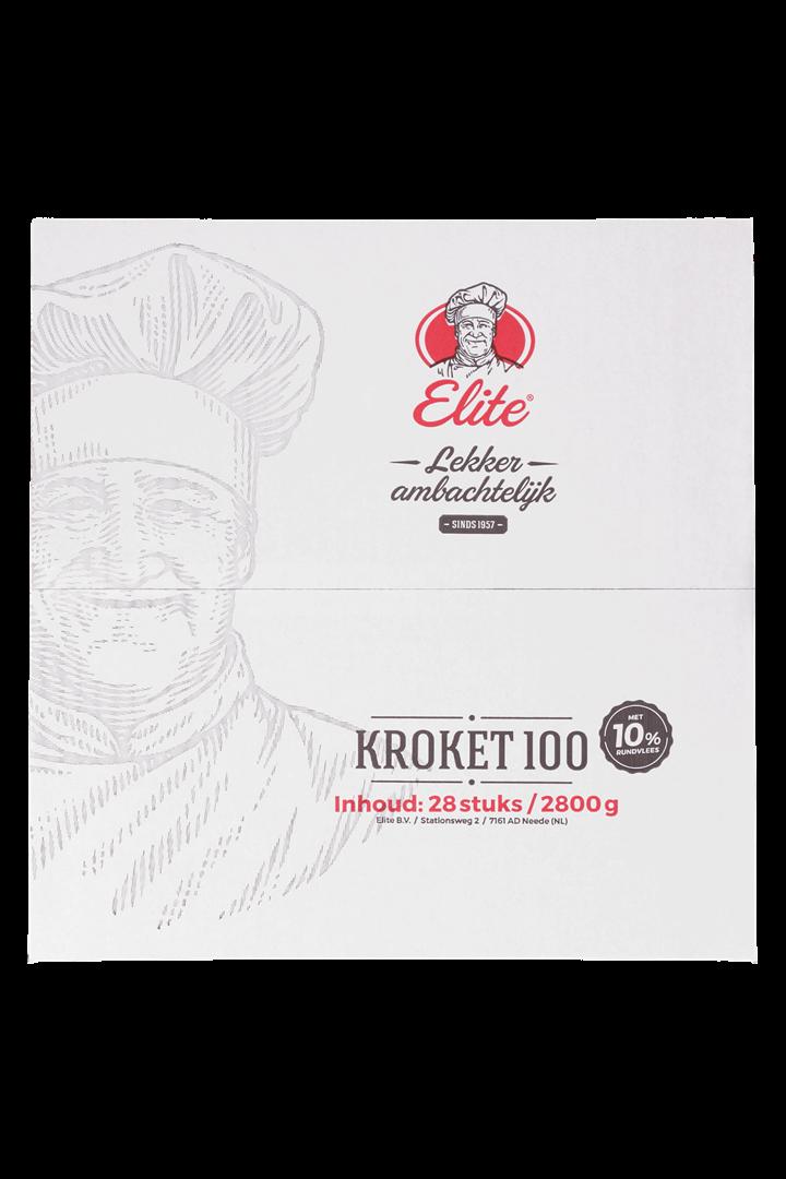 Productafbeelding Kroket rundvlees 10% 28x100 gr