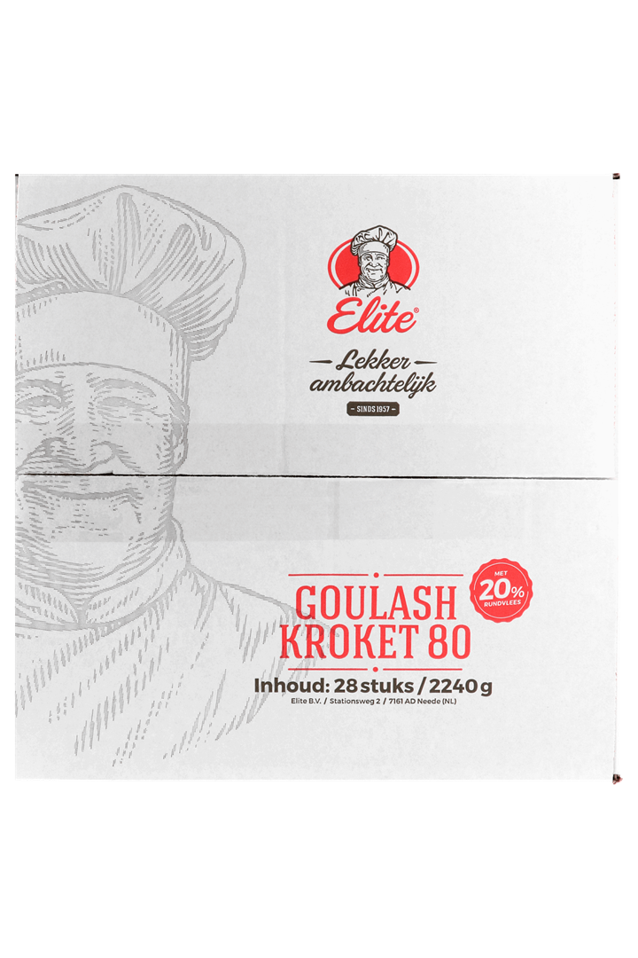Productafbeelding Goulashkroket 20% 28x80 gr