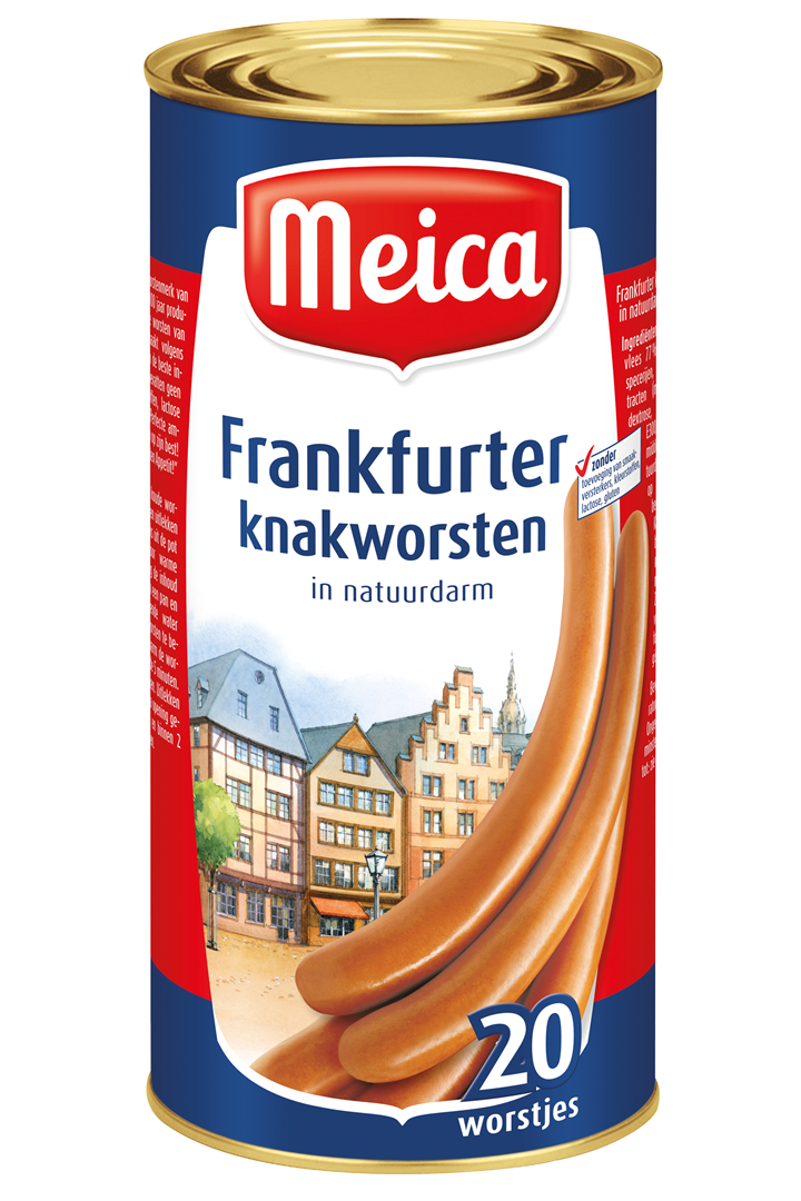 Productafbeelding Meica knakworsten frankfurter 1600g blik