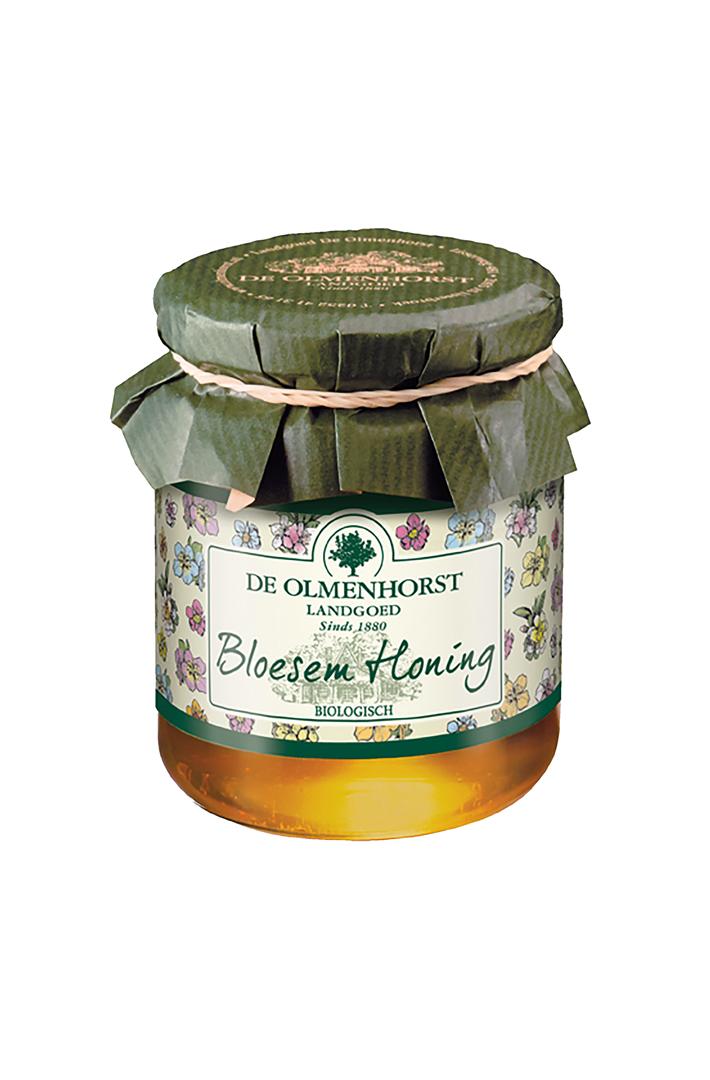 Productafbeelding de Olmenhorst honing Bio bloesem 325g pot