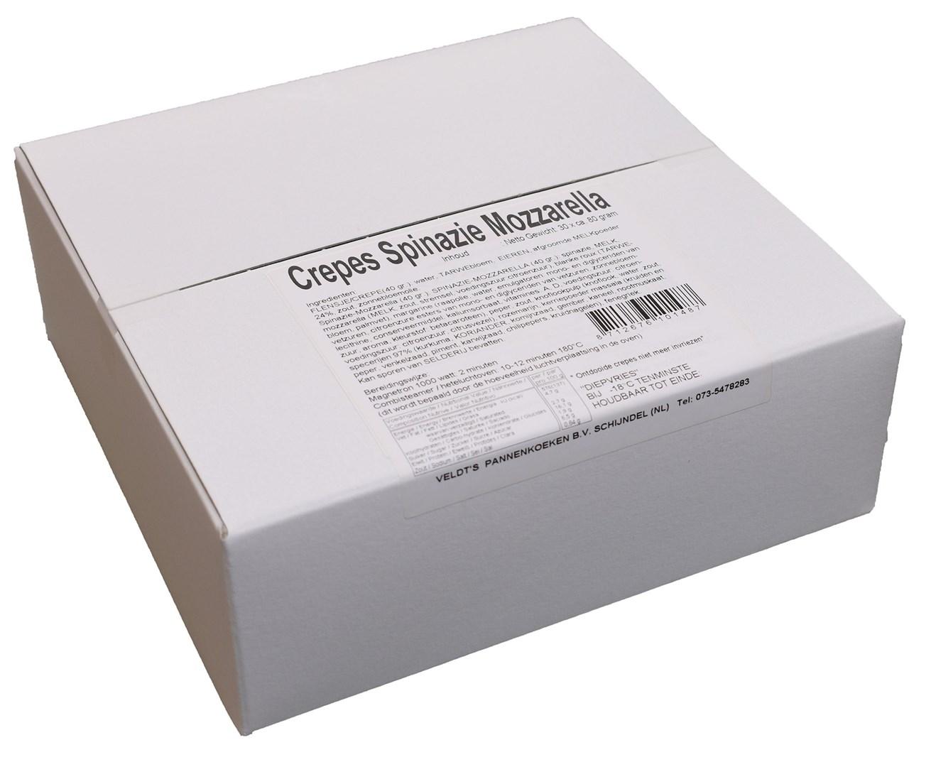 Productafbeelding Flensjes / Crepes Spinazie Mozzarella