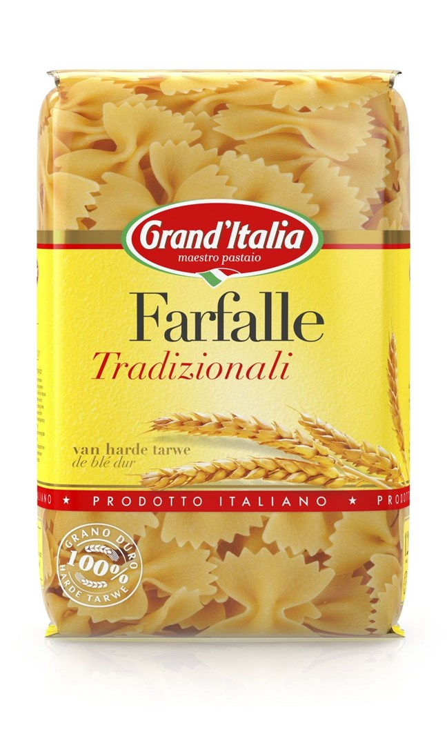 Productafbeelding Grand'Italia Pasta Farfalle Tradizionali 500 g Zak
