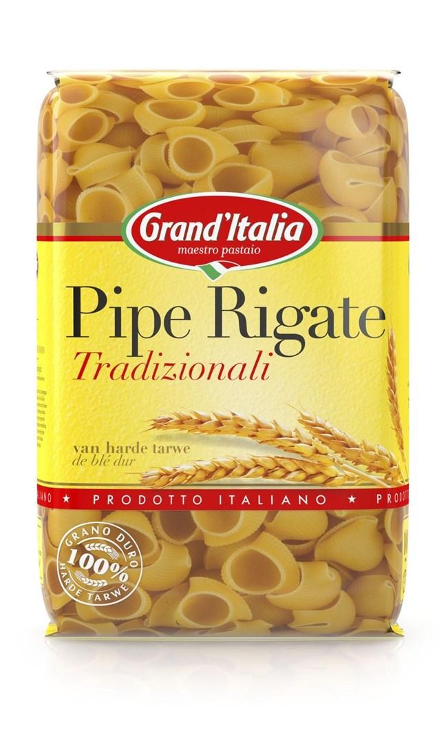 Productafbeelding Grand'Italia Pasta Pipe Rigate Tradizionali 500 g Zak