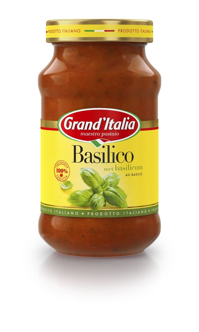 Productafbeelding Grand'Italia Tomatensaus Basilico 400 g Bus