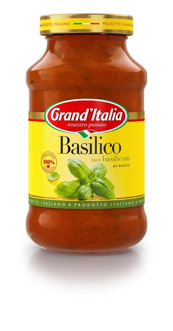 Productafbeelding Grand'Italia Tomatensaus Basilico 600 g Bus