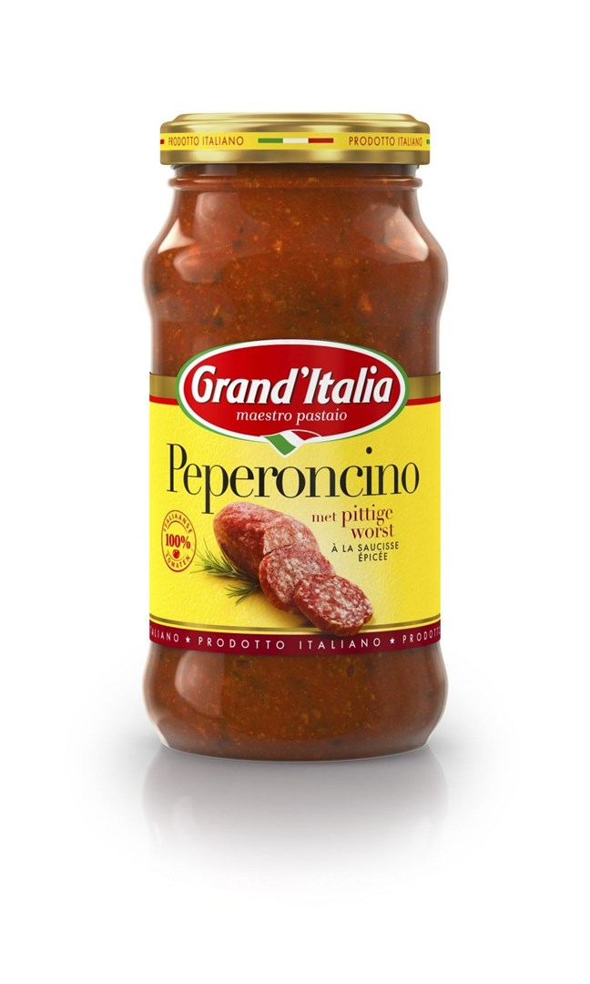 Productafbeelding Grand'Italia Tomatensaus Peperoncino 260 g Bus
